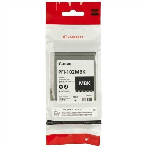 Canon PFI-102MBK Mat Siyah Orjinal Kartuş