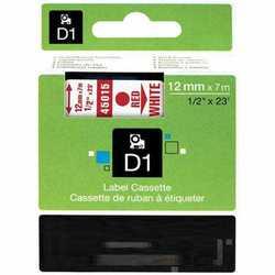 Dymo - Dymo 45015 Beyaz Üzerine Kırmızı Muadil Etiket
