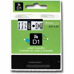 Dymo - Dymo 45803 Beyaz Üzerine Siyah Muadil Etiket