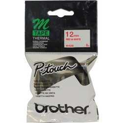 Brother - Brother M-K232 Beyaz Üzerine Kırmızı Etiket