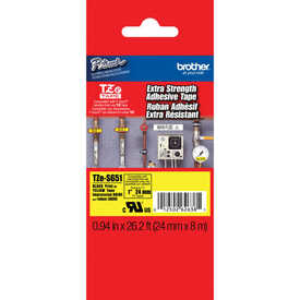 Brother - Brother TZE-S651 Siyah Lamine Etiket (24MM)