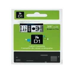 Dymo - Dymo 40910 Şeffaf Üzerine Siyah Muadil Etiket