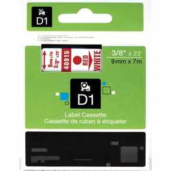 Dymo - Dymo 40915 Beyaz Üzerine Kırmızı Muadil Etiket