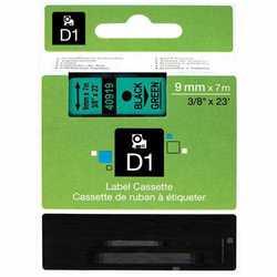 Dymo - Dymo 40919 Yeşil Üzerine Siyah Muadil Etiket