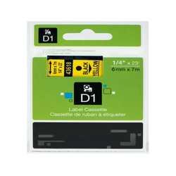 Dymo - Dymo 43618 Sarı Üzerine Siyah Muadil Etiket