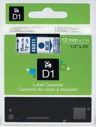 Dymo - Dymo 45011 Şeffaf Üzerine Mavi Muadil Etiket