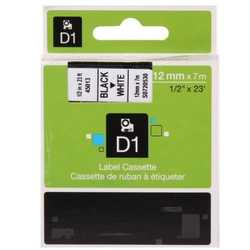 Dymo - Dymo 45013 Beyaz Üzerine Siyah Muadil Etiket