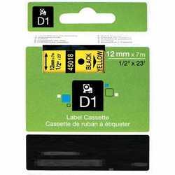 Dymo - Dymo 45018 Sarı Üzerine Siyah Muadil Etiket