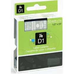 Dymo - Dymo 45020 Şeffaf Üzerine Beyaz Muadil Etiket