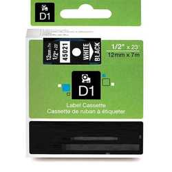 Dymo - Dymo 45021 Siyah Üzerine Beyaz Muadil Etiket