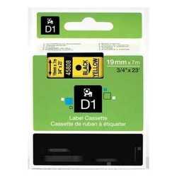 Dymo - Dymo 45808 Sarı Üzerine Siyah Muadil Etiket