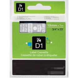 Dymo - Dymo 45810 Şeffaf Üzerine Siyah Muadil Etiket