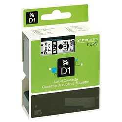 Dymo - Dymo 53710 Şeffaf Üzerine Siyah Muadil Etiket