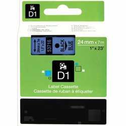 Dymo - Dymo 53716 Mavi Üzerine Siyah Muadil Etiket