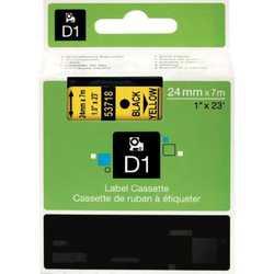 Dymo - Dymo 53718 Sarı Üzerine Siyah Muadil Etiket