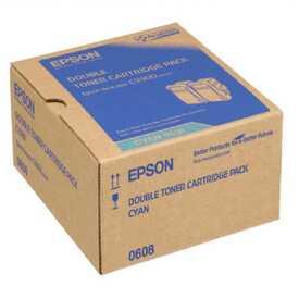 Epson - Epson C9300 C13S050608 Orjinal Mavi Toner 2'Li
