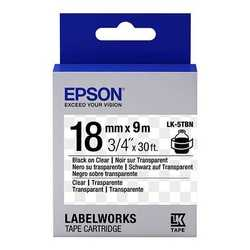 Epson - Epson LK-5TBN Transparan Üzerine Siyah Orjinal Etiket