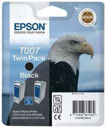 Epson - Epson T007-C13T00740220 Orjinal Siyah Kartuş 2'Li