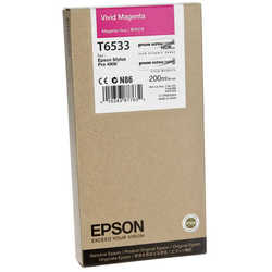 Epson - Epson T6533-C13T653300 Orjinal Kırmızı Kartuş
