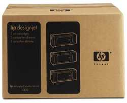 Hp - Hp 90-C5084A Orjinal Kırmızı Kartuş 3'Lü Paket
