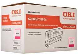 Oki - Oki C3200-42126663 Orjinal Kırmızı Drum Ünitesi
